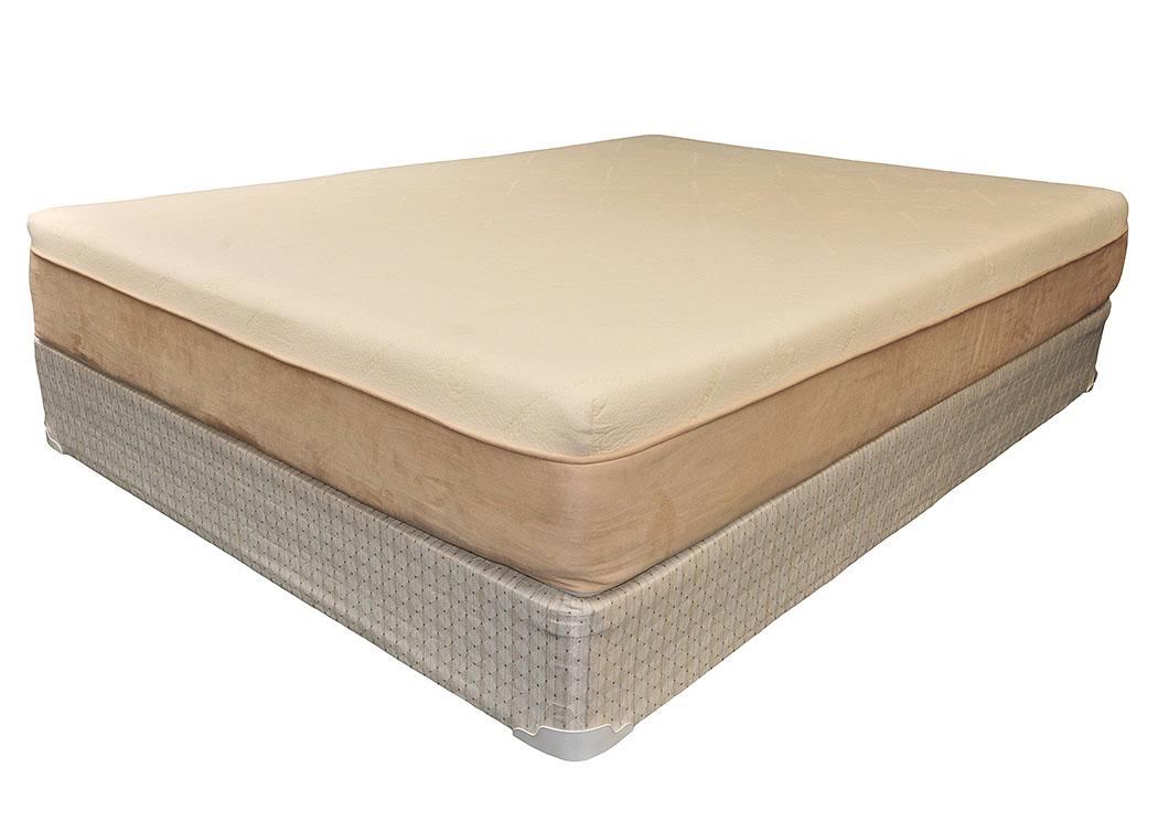 Muncie Furniture 8 Visco Memory Foam Queen Mattress W Foundation